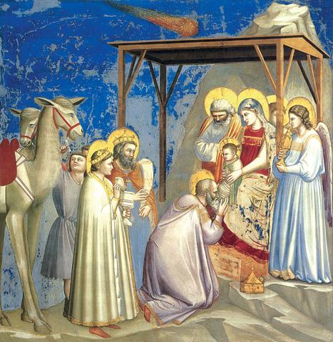 La adoración de los Magos, de Giotto