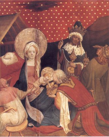 Adoración de los Reyes. Maestro Francke (siglo XV)