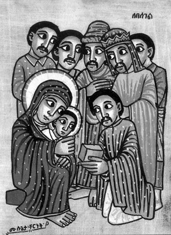 Adoración de los Magos. Belén etíope (de Mundo Negro)