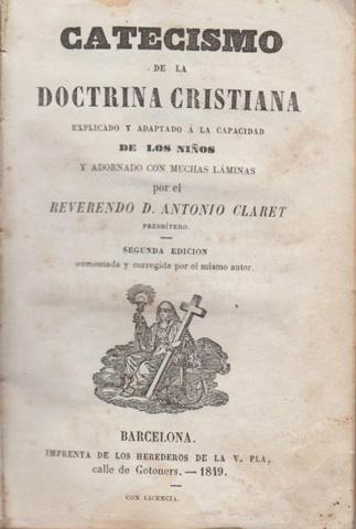 Catecismo de 1848, escrito por el entonces joven sacerdote