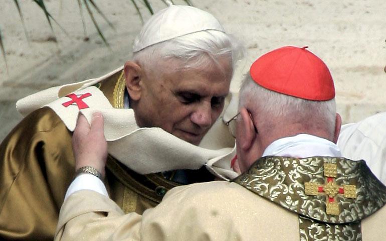 Benedicto y el cardenal Medina