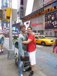 Pietro (a la izquierda),con su amigo Eduardo en Nueva York