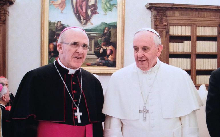 Con el Papa Francisco, en marzo de 2014. Foto: AVAN