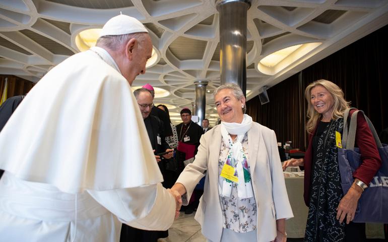 Papa saluda a Berzosa