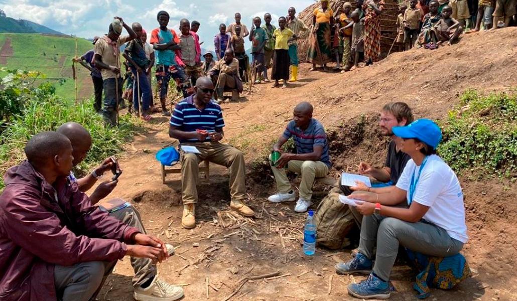 Desplazados en el este de RD Congo