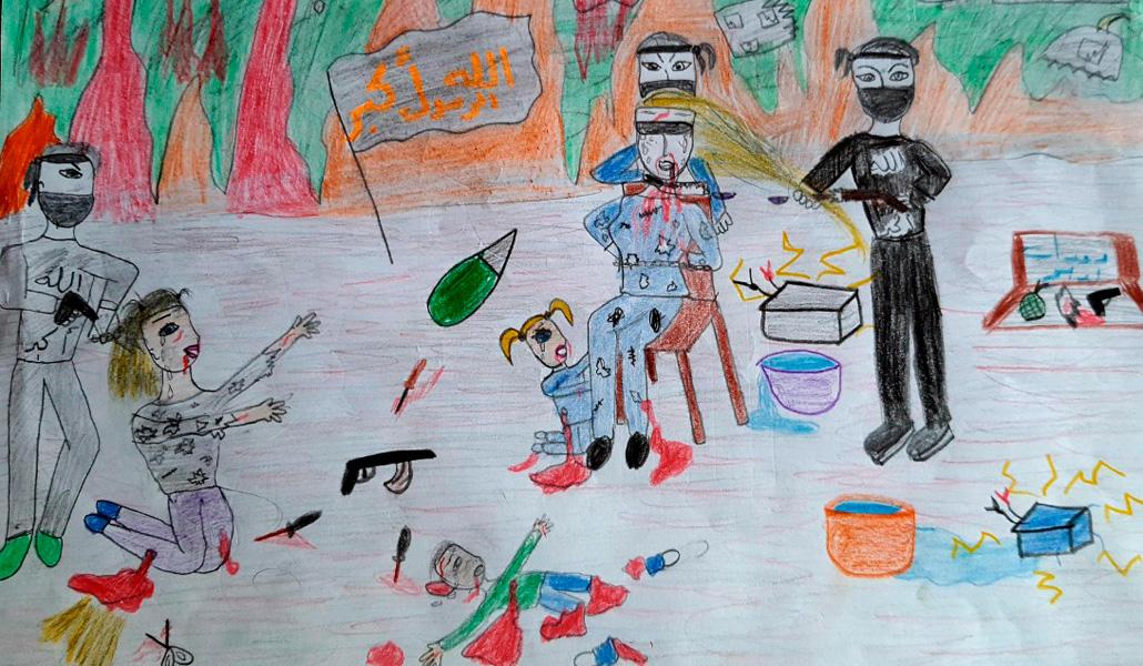 Dibujo de una niña de Siria, 11 años