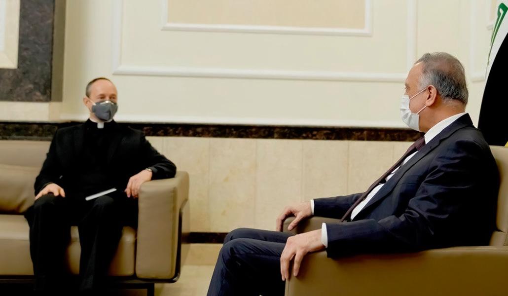 El nuncio con el primer ministro de Irak