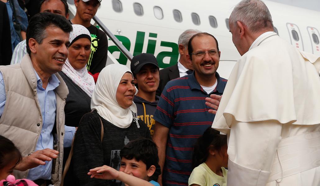 El Papa despega de Lesbos