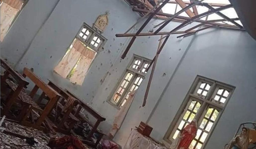 Iglesia atacada en Myanmar