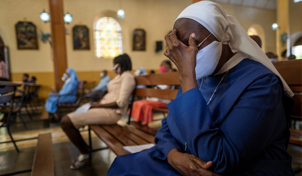 Religiosa tras el asesinato del presidente de Haití