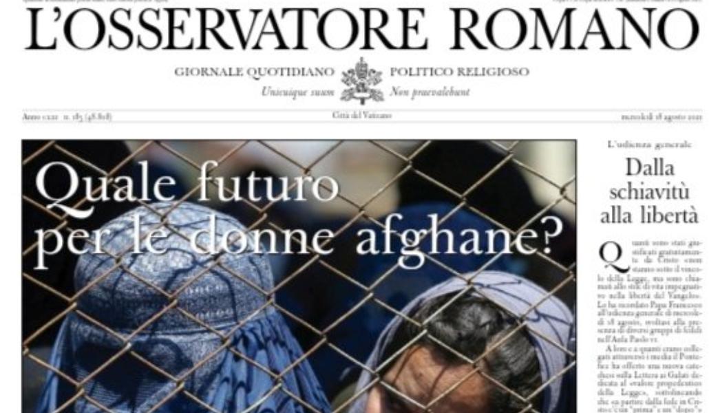 Portada de L'Osservatore Romano.
